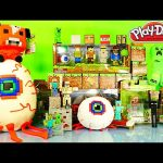 GIANT Play Doh Minecraft Surprise Egg Terraria VS Minecraft Toys DCTC Playdough Videos Creations