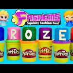 NEW Frozen Fashems Play Doh Surprise Eggs Disney Princess Toys DCTC Huevos Sorpresa de Plastilina