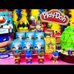 Play Doh Surprise Eggs Christmas Tree NEW DC Universe Mezitz Batman Toys Blind Box Opening DCTC