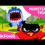 T-Rex VS Monster Truck | Monster Trucks | Pinkfong Songs for Children