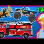 Videos for Kids 1 Hour Compilation – Fire Trucks   Monster Trucks   Backhoe – Blippi