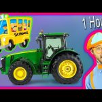 Videos for Toddlers – Learn Numbers and Alphabet with Animals & Tractors. 1 Hour!