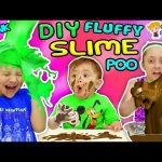 BAD BABY EATS POOP! DIY Fluffy Slime Prank w/ Chocolate (Chase's Corner #49 DOH MUCH FUN)