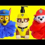 Paw Patrol Rubble Chase Marshall Bath Time Fun and Surprises
