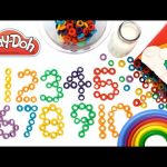Learn to Count Make Numbers 1 to 10 with Play Doh Froot Loops RainbowLearning