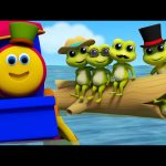 Bob The Train | Five Little Speckled Frogs | Frogs Songs | Nursery Rhymes | Baby Songs