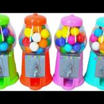 Learn Colors Gumball Machine Surprises Baby Bath Gumball surprises Toys videos for kids and babies.
