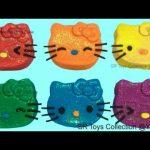 Learn Colors Play Doh Sparkle Hello Kitty Animal Molds Elephant Lion Fun Creative for Kids Foam Clay