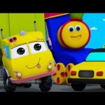 Learn Transport Vehicles | Learning Street With Bob | Kindergarten Nursery Rhymes For Babies
