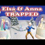 Elsa and Anna Stuck inside of a Snow Globe Toy Parody