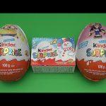 New Kinder Surprise Egg Christmas Party!  Opening 2 Huge Giant Jumbo Kinder Surprise Eggs!