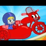 Morphle becomes a Stuntbike! My Magic Pet Morphle episodes for Kids (Motorcycle, Racecar)