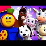 Bob The Train Went To The Farm | Farm Songs For Toddlers