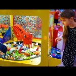 Indoor playground fun for kids with games. Video 2018