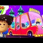 Christmas Wheels On The Bus | Little Eddie Cartoons | + More Xmas Songs -Kids TV