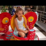 Kids playing. Funny video ride from Krk island.