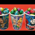 M&M Chocolate Candy Surprise Toys Mickey Mouse Chupa Chups Robocar Poli Learn Colors Play Doh Kids