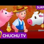 Surprise Eggs Old MacDonald Had A Farm – Farm Animals and Wild Animals Learning Videos | ChuChu TV