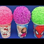 Play Foam Ice Cream Surprise Toys Disney Minnie Mouse TMNT Care Bears MLP Learn Colors Play Doh Kids