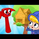 Morphle's treehouse – Building with Mila and Morphle