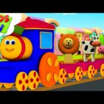 Animals Train | Learning Videos For Babies | Bob The Train | Cartoons Shows – Kids TV