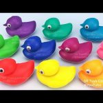Learn Numbers 1 to 10 and Colors with Play Doh Ducks Fun for Kids Surprise Toys Disney Cars Yowie