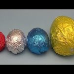 Learn Sizes with Surprise Eggs! Opening HUGE Colourful Chocolate Mystery Surprise Eggs! 29