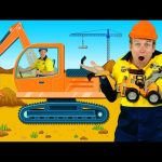"""""""Construction Machines"""" Kids Song – Diggers, Trucks, Backhoe, Construction Toys"""