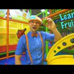 Play at the Play Place with Blippi | Learn Fruit and Healthy Eating for Children