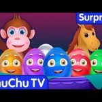 Surprise Eggs Nursery Rhymes Toys   Learn Baby Animals & Colours   ChuChu TV Egg Surprises