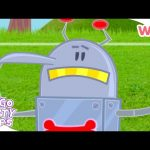 Go Go Footy Pups – Taking Instructions from Flea-Bot | Football for Kids | Wizz | Cartoons for Kids